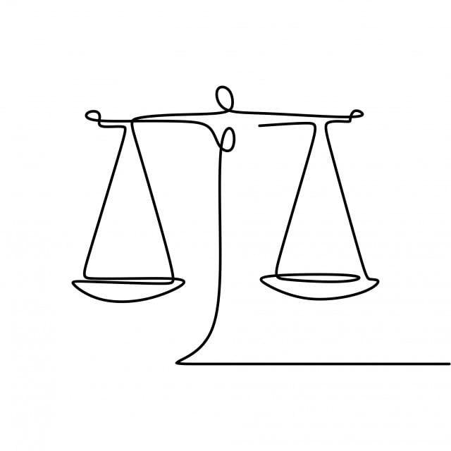 رسم خط مستمر لرمز قانون توازن الوزن المحكمة القانون مستمر Png والمتجهات للتحميل مجانا Continuous Line Drawing Balance Tattoo Line Drawing