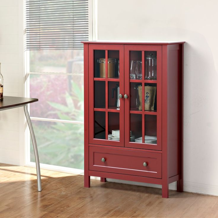 Homestar Glass Curio Cabinet - Give your favorite dinnerware and other dining essentials a beautiful new home with the Homestar Glass Curio Cabinet . This piece is made of wood and...