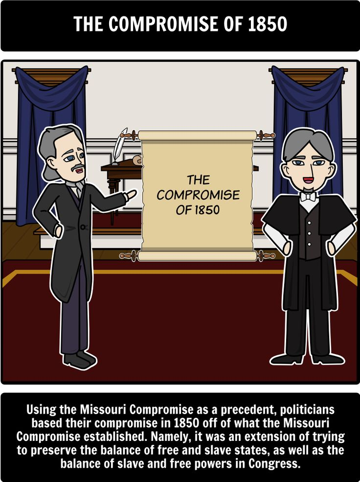 the outcomes of the missouri compromise and the compromise of 1850 Analyze the effects of political compromise in reducing sectional the missouri compromise of 1820 in the missouri compromise, compromise of 1850.