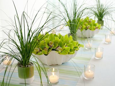 Image result for grass centerpieces