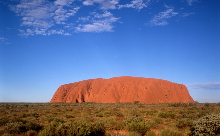 So lucky, it had the colour we hoped for. Climb it and you're minge minge. (Ayers Rock/ Uluru, Australia)