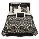 Home 8-pc. Bed Set - Flocked Floral Black/Cream my new bed set :)