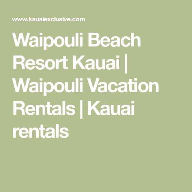Waipouli Beach Resort Kauai | Waipouli Vacation Rentals | Kauai rentals