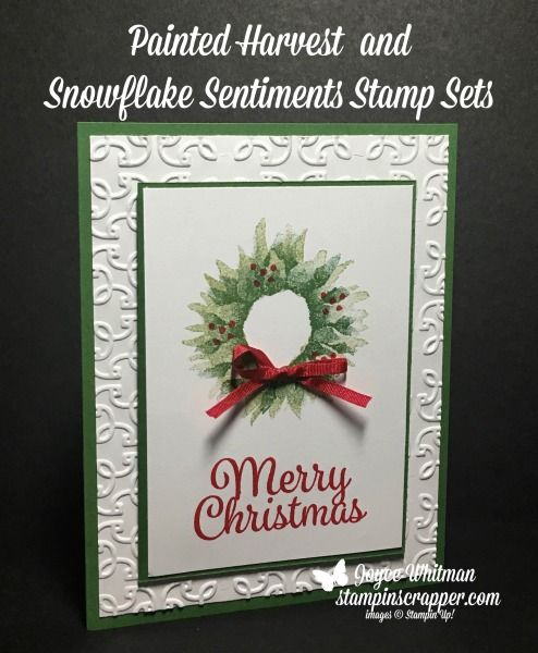 38378 best stampin 39 up images on pinterest catalog for Painted christmas cards