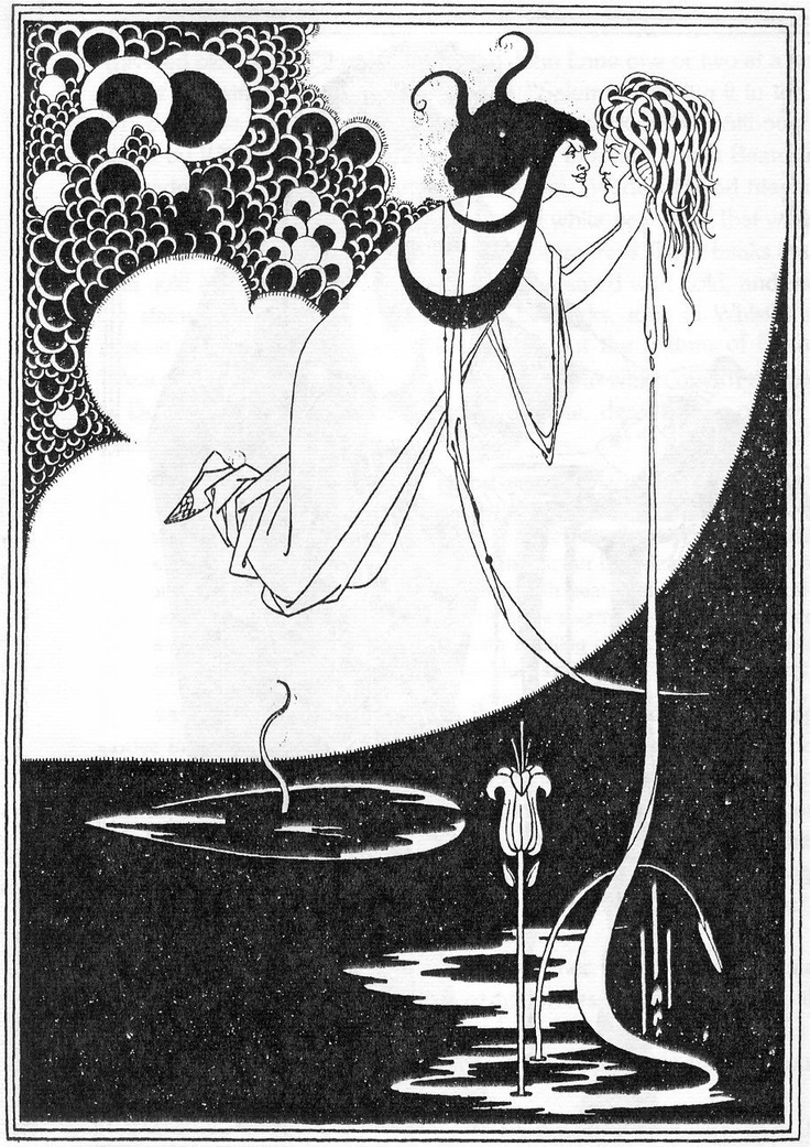 For the play Salome by Oscar Wilde by Aubrey Beardsley