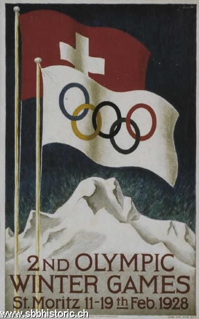 2nd Olympic Winter Games. St. Moritz 11 - 19th Feb. 1928