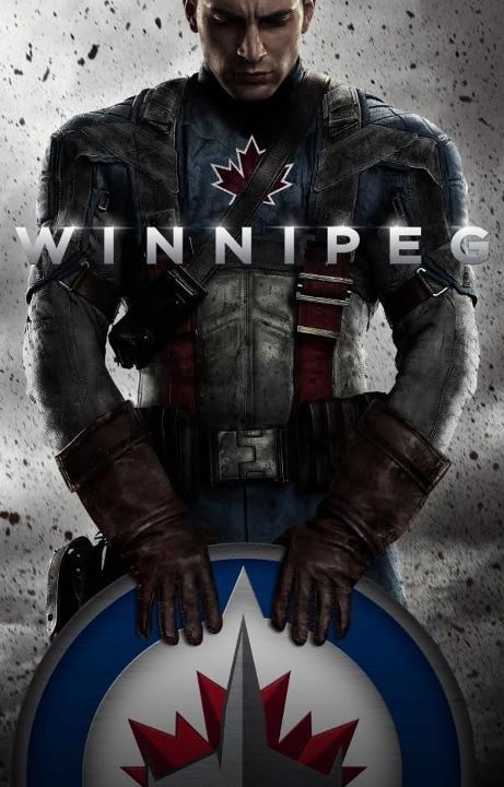 None of this captain America! Captain Winnipeg Jets!!! ❤