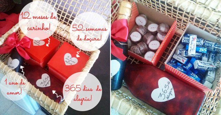 DIY: Presente de aniversário de 1 ano de namoro ||| Namorada Criativa