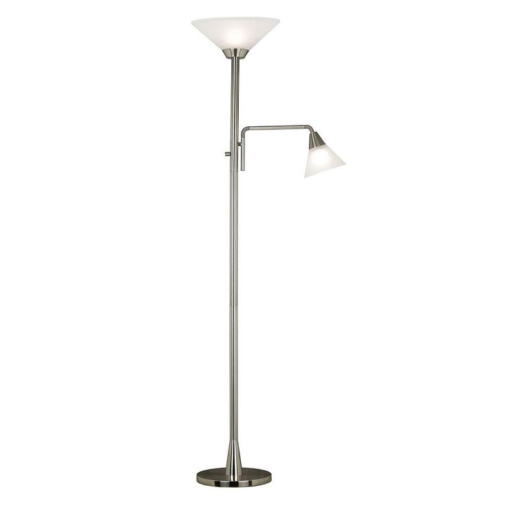Rush Torchiere Floor Lamp, Silver