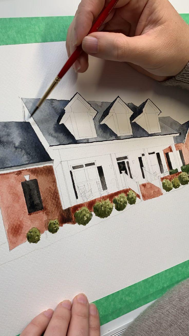 Watercolor In 2020 Art Tutorials Watercolor Watercolor House
