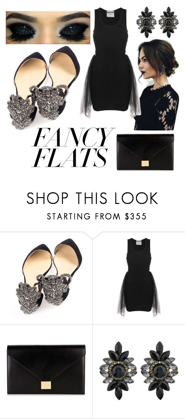 """Sleek"" by chalotteleah on Polyvore featuring Moschino and Victoria Beckham"