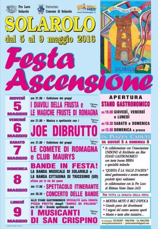 Festa dell'Ascensione Solarolo  http://www.sagreromagnole.it/festa-dellascensione-solarolo-2016/