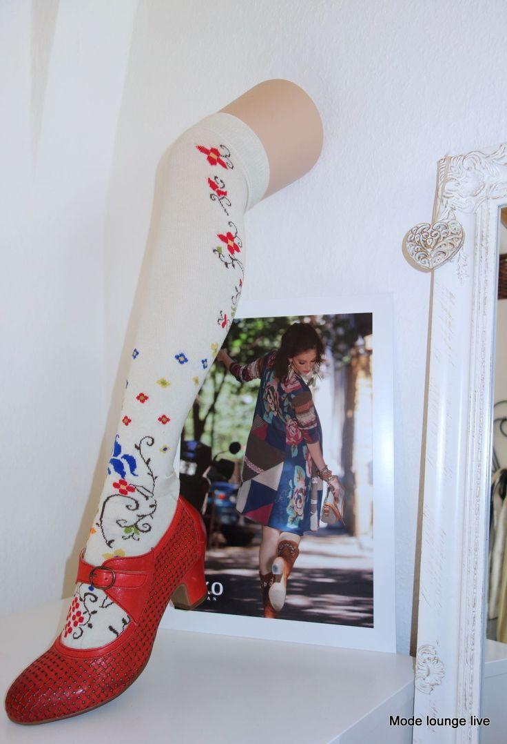 Ivko Knee High Socks Gunta Size 35 - 42 Cream Beige Socks Overknee