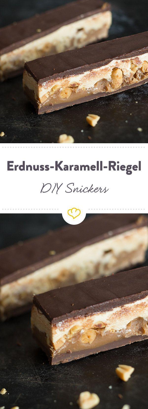 Schokolade, Erdnussbutter, Karamell, Marshmallowcreme - diese kleinen Erdnuss-Karamell-Schokoriegel sind eine wunderbar klebrige Angelegenheit.