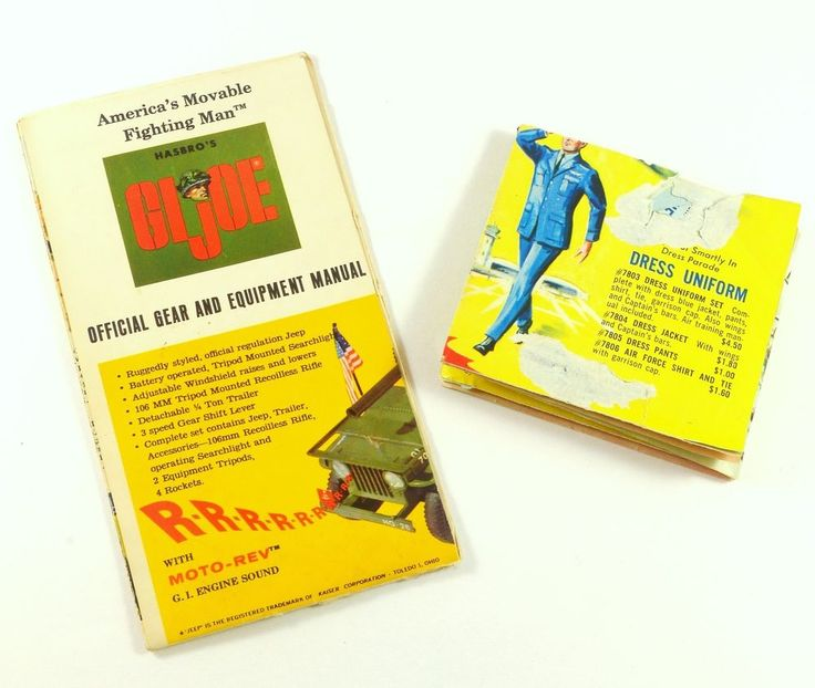 2 1960s GI Joe Hasbro Toy Pamphlets & Catalogs Poster Army Soldier Navy Sailor #Hasbro