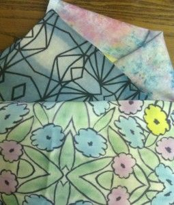 Designs into fabric, blog post by Dale Anne Potter.