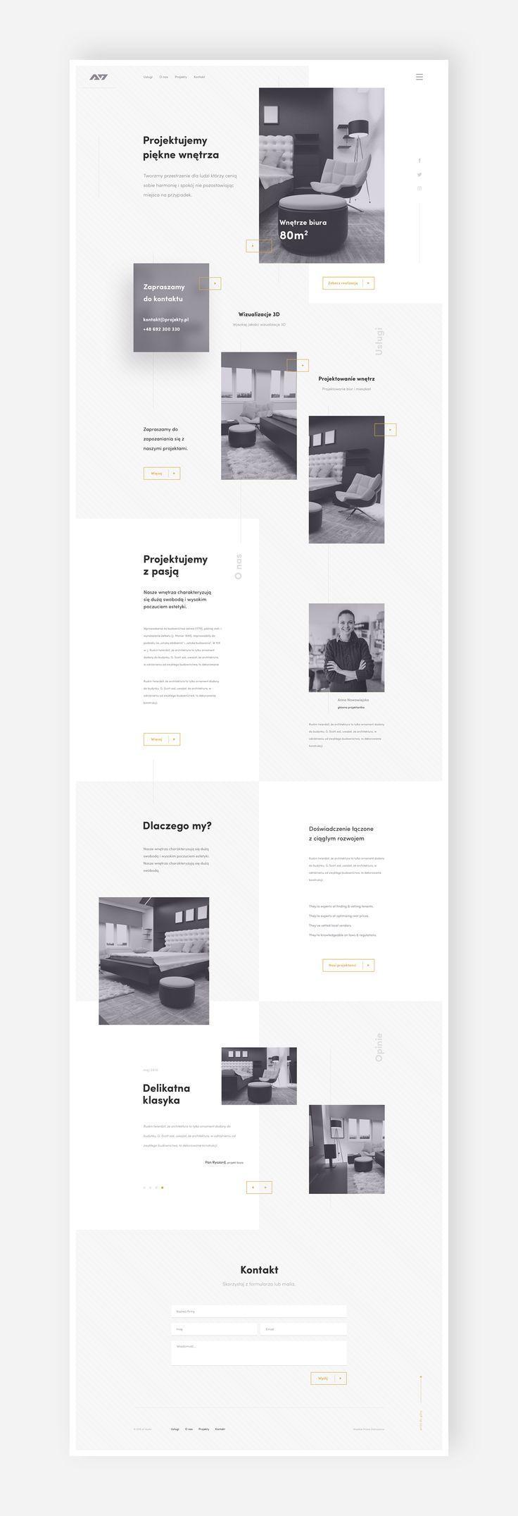 A7 interior / house design   #ui #ux #userexperience #website #webdesign …  – Design de Negócios e Publicidade