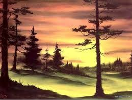 dibujos de paisajes pintados - Buscar con Google