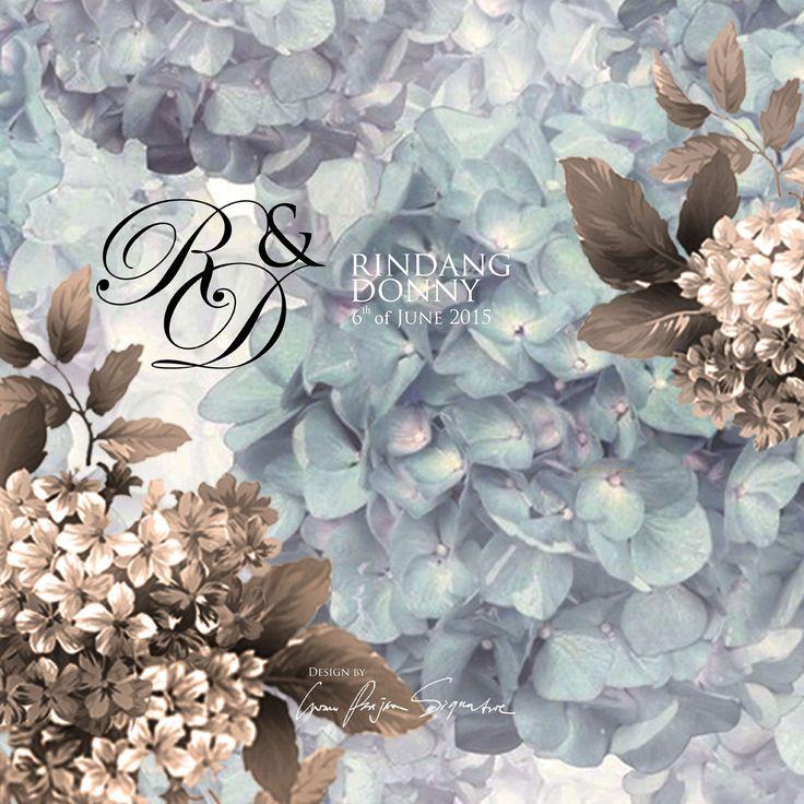 wedding invitation cover design for Rindang & Donny