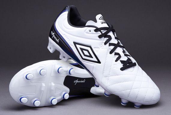 Korki - Buty piłkarskie - Umbro Speciali 4 Pro HG - Twarde podłoże - Biały-Czarny-Niebieski - 80660U-DAZ