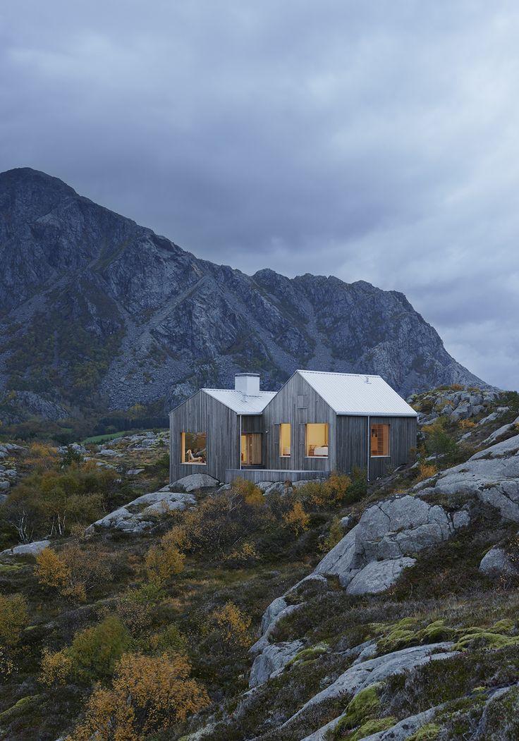 Built by Kolman Boye Architects in Vega, Norway, 2012. The house stands on the island of Vega in the Norwegian archipelago not far from the polar circle. https://en.wikipedia.org/wiki/Vega,_Norway