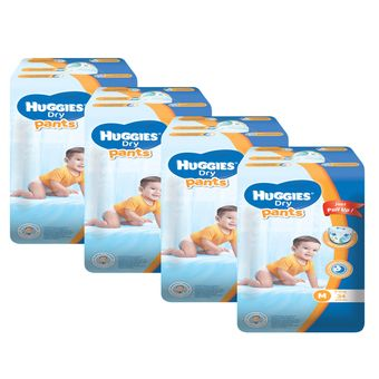 Buy Huggies Dry Pants Medium - 34 pcs x 4 packs (136 pcs) online at Lazada. Discount prices and promotional sale on all. Free Shipping.