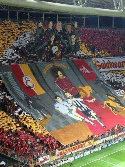 Cartolina da Istanbul: 17.09.2013, Galatasaray vs Real Madrid gara di UEFA Champions League #ultras Galatasaray Champions League