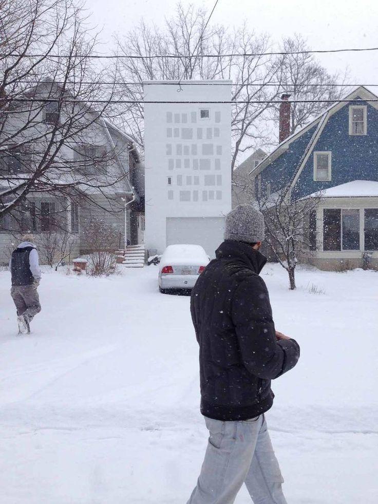 Unique home extension in Syracuse.