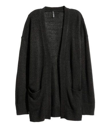 H&M Knit Cardigan $25 :: Cardigan in a soft knit with dropped shoulders, long sleeves, and front pockets. No buttons.