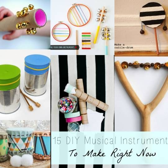 14 DIY Musical Instruments to Make Now