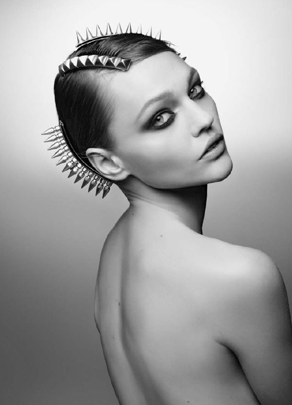 .Sashapivovarova, Hair Piece, Beautiful, Sasha Pivovarova, Alternative Hair, Hair Accessories, Fashion Photography, Headpieces, Michele House