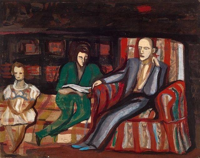 Maria Helena Vieira da Silva, 'Retratos,' 1944, Pinakotheke Cultural