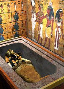 Túmulo de Tutankhamon no Vale dos Reis, no Egito.