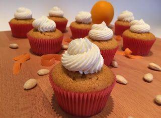 Denny Chef Blog: Cupcake mandorla e carota con frosting agrumato