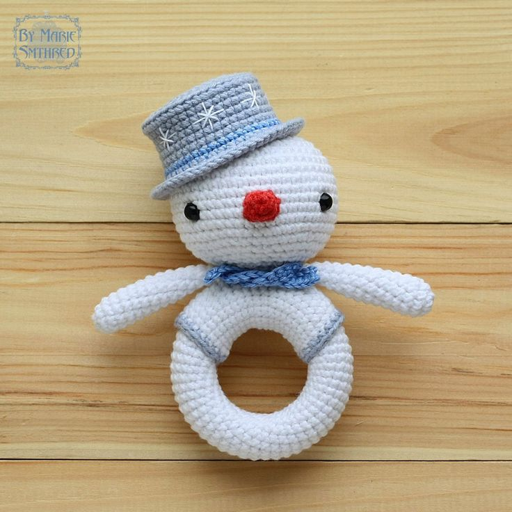 Snowman Rattle by Marie Smthred.