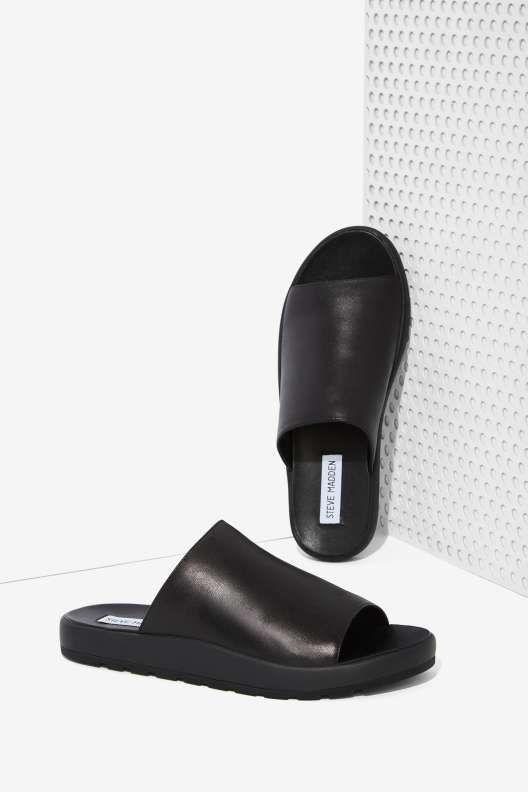 Steve Madden Flavor Leather Slide Sandals