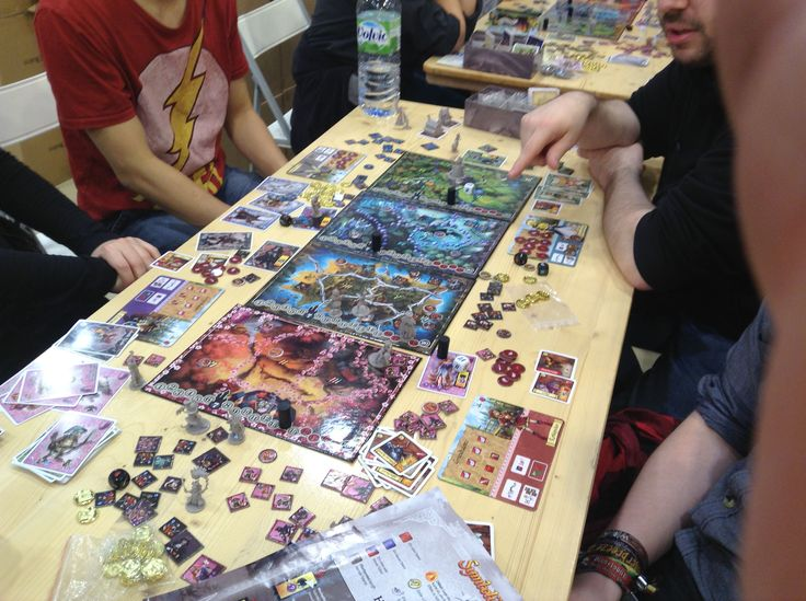 12 Realms: Game in Progress. A big thanks to the fans who post these pictures from Essen.