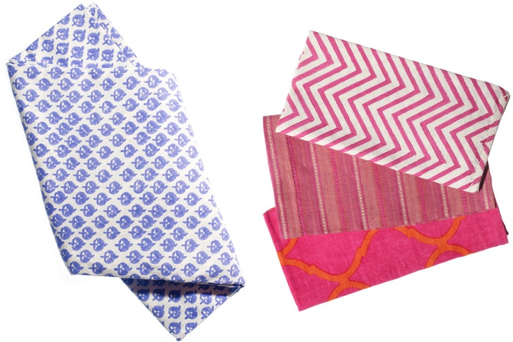 Our Spectrum napkin - shown here in Raspberry - serves up the perfect pop of color for a summer garden party or BBQ.