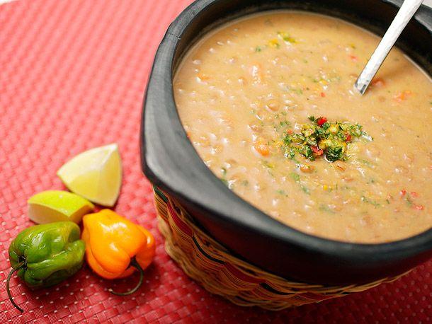 Vegan: Coconut Lentil Soup with Cilantro-Habañero Gremolata