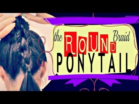 ★HOW TO: 3D BRAID PONYTAIL TUTORIAL FOR MEDIUM LONG HAIR |4-STRAND ROUND BRAID  |HAIRSTYLES UPDOS