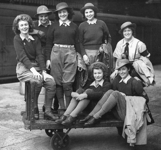 Land Girls 1940s. For more about Clementine, please visit http://www.agirlforalltime.com/Clementine-main-page