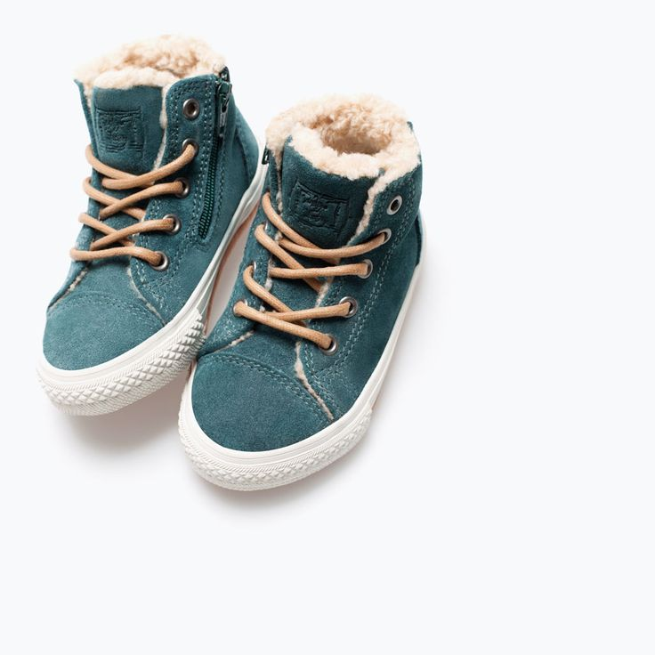 Image 4 of LINED LEATHER SNEAKER from Zara