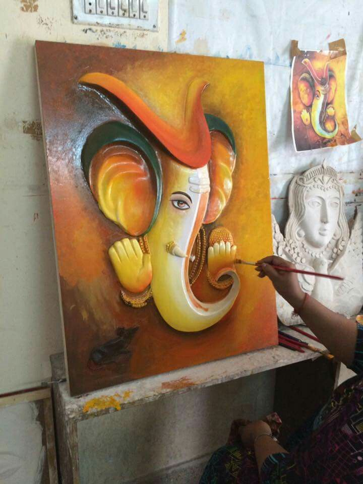 847 best images about paintings on pinterest buddha for Mural art of ganesha