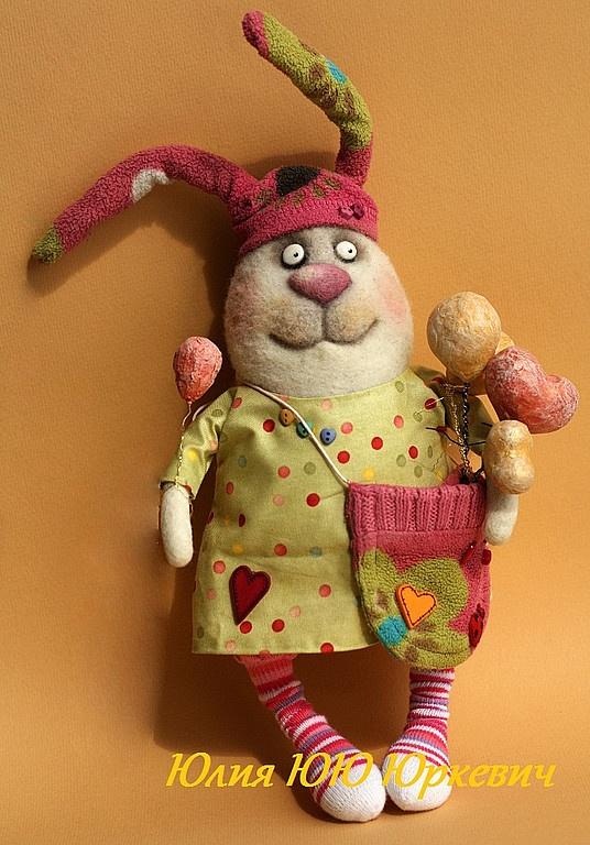 Игрушки животные, ручной работы. Ярмарка Мастеров - ручная работа Зайки счастья. Handmade.