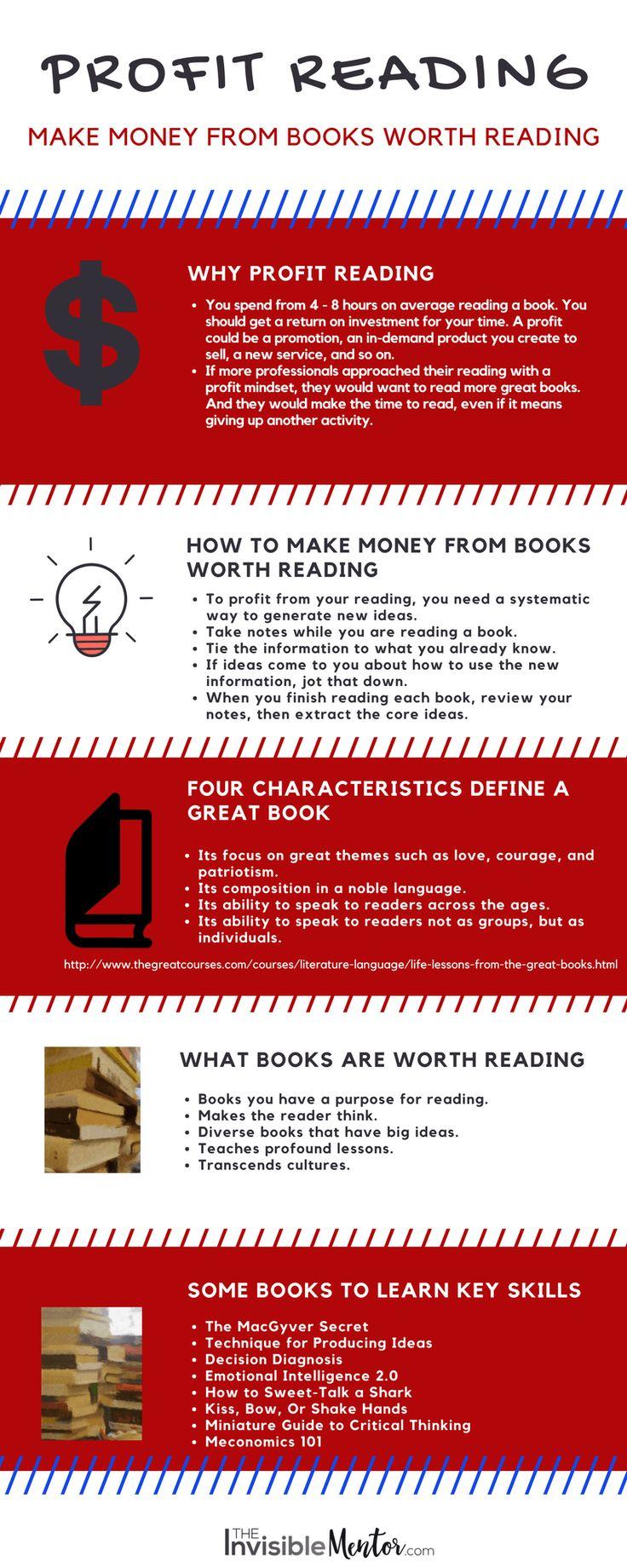 Profit Reading: Make Money From Books Worth Reading