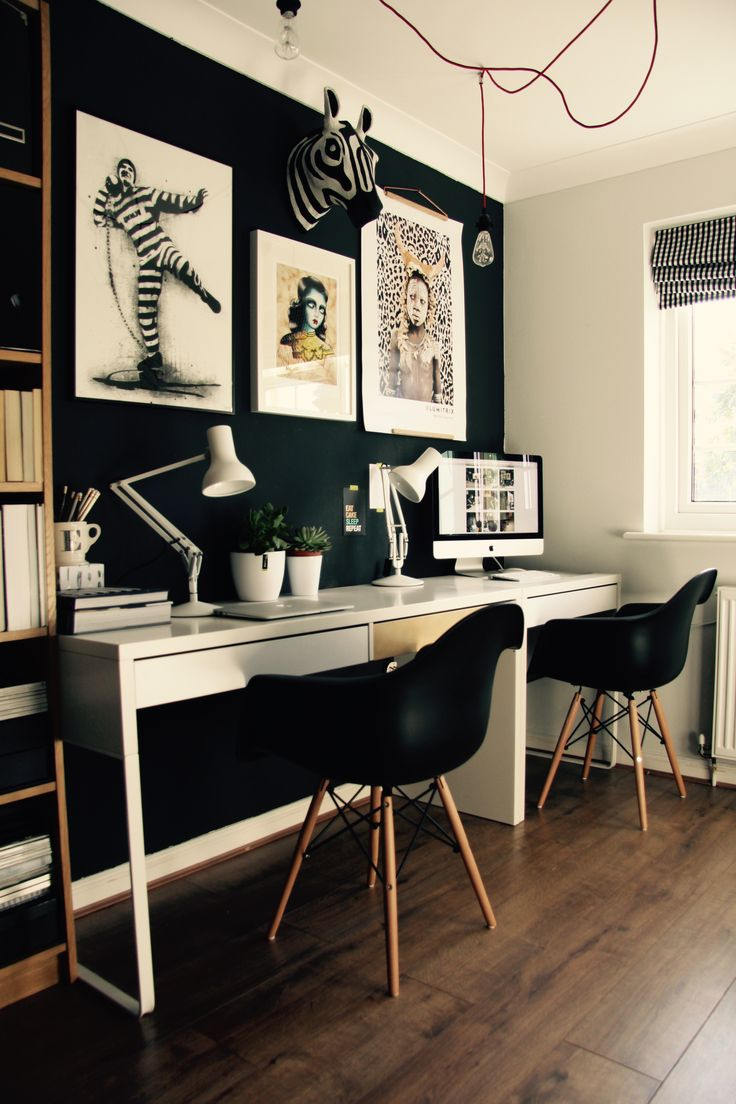 best 20+ black office ideas on pinterest | black office desk