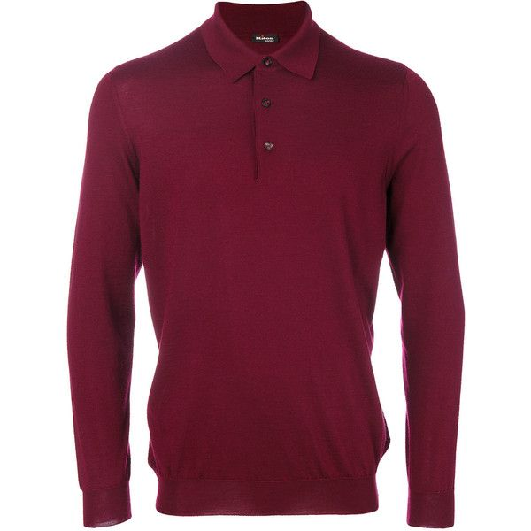 Kiton knitted polo shirt (70.545 RUB) ❤ liked on Polyvore featuring men's fashion, men's clothing, men's shirts, men's polos, red, mens polo shirts, mens red polo shirt and mens red shirt
