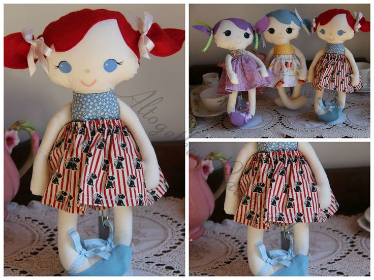 Ruby Mae Dress Me Up Soft Doll - Rag Doll - Unique Handmade Doll 14in Kids