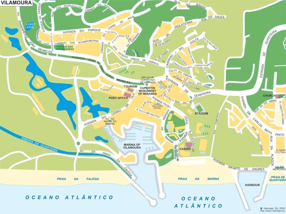 Click on the Vilamoura map to download a printable pdf version