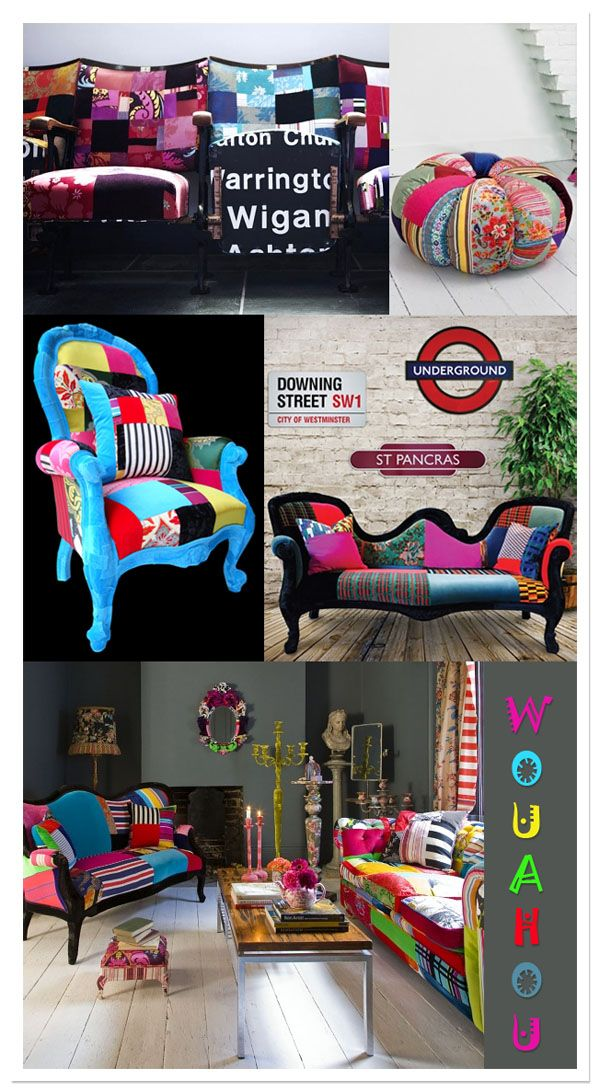 101 Best Patchwork Images On Pinterest Chairs Armchairs